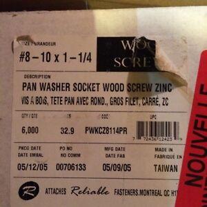 """#8-10 pan washer screws 1 1/4"""""""