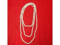 Freshwater Pearl necklace- Very long strand