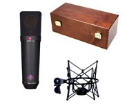 Neumann U87 AI Studio Microphone Set, Black, brand New
