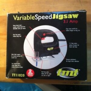 New TMT Variable Speed Jigsaw With 3.1 Amp Motor