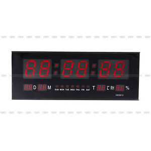 led horloge murale digital rectangle de couleur rouge. Black Bedroom Furniture Sets. Home Design Ideas