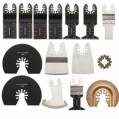 15pcs Saw Blades Kit For Rockwell Sonicrafter Worx Oscillating Multitool Accesso