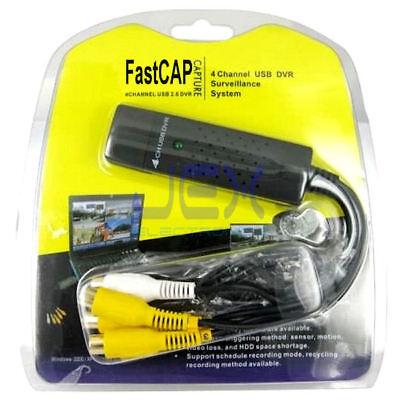 USB 4Ch/4 Channel Video input DVR CCTV Surveillance System for Laptop/Desktop PC 4 Channel Cctv Dvr Video
