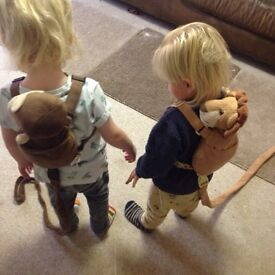 """Cute children's harness, 1 monkey 1 lion by """"gold Bug"""""""