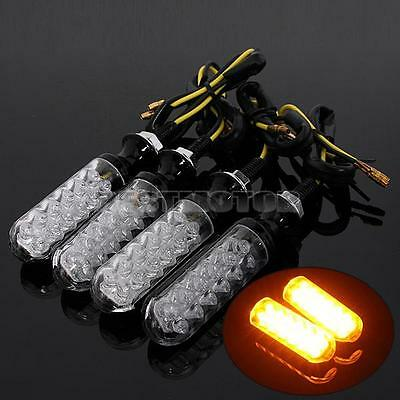 4x 12 LED Universal Motorcycle Motorbike Turn Signal Indicator Lights lamp Amber
