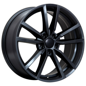 4 NEW MAG FOR VW REPLICA 75 GLOSS BLACK 18X8.0 ET45 CB57,1