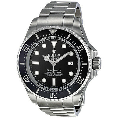 Rolex Sea Dweller DEEPSEA Black Index Dial Oyster Bracelet Stainless Steel Mens