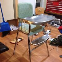Free Highchair Retro Chrome in great shape