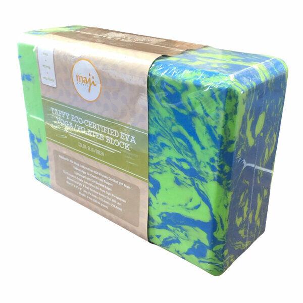 Maji Sports Taffy Eco-Certified EVA Foam Yoga Pilates Block New Blue Green