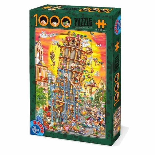 D-Toys 1000 Piece Puzzle - Cartoon Collection The Leaning Tower Pisa