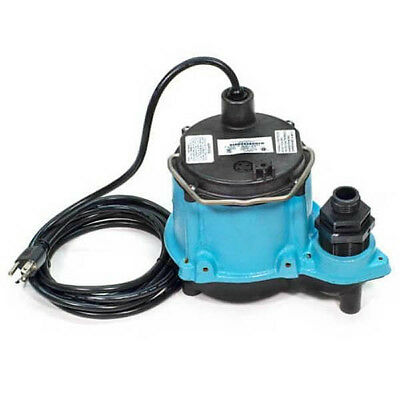 Little Giant 506271 6-CIM-R 1/3HP 45 GPM Manual Submersible Sump Pump Gpm Manual Submersible Sump Pump