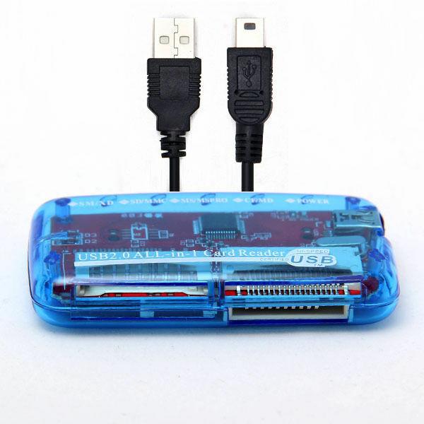 Alle in 1 SDHC Kartenleser 49 in 1 USB2.0 Kartenlesegerät extern SD MS DE
