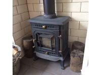 6kw log burner multifuel stove fire