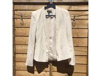Mango cream suit jacket size XS / 8
