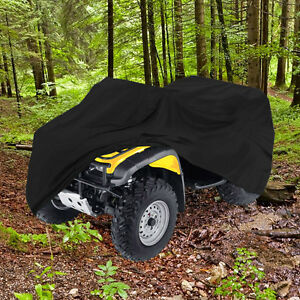 "Waterproof ATV Cover 99"" Length 4Wheeler 4X4 - Black"