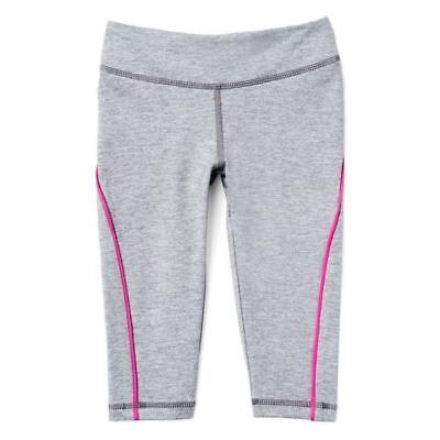 NWT Gymboree Active Gray Capri Cropped Leggings Girls
