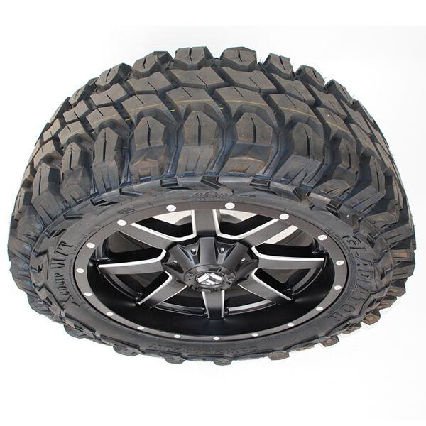 20x9 Fuel Maverick D538 Black Gladiator Xcomp Mt 33x12.50r20 Wheels Tires