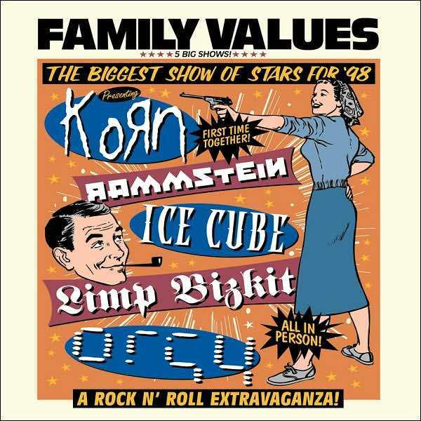 FAMILY VALUES TOUR 98 / VARIOUS : FAMILY VALUES TOUR 98 / VARIOUS (CD) sealed