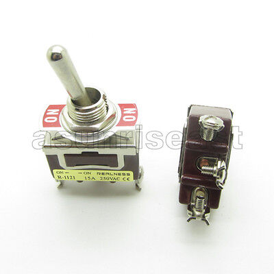 Heavy Duty Toggle Switch Spdt 3 Screw Terminal On-on 2 Position 12mm 15a 250v