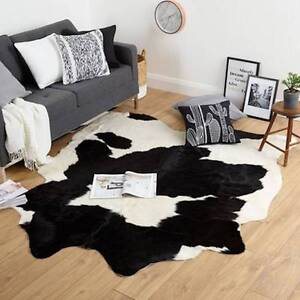 NEW LEATHER COWHIDE BRAZILIAN LARGE RUG - RRP $499 Rose Bay Eastern Suburbs Preview