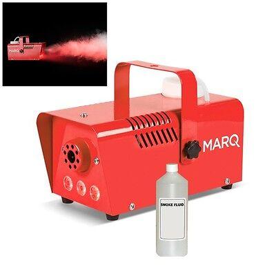Flüssigkeit Nebelmaschine (Marq Nebel 400 Led Rot Dj Party Rauch Effekte Maschine mit Lichter & Flüssigkeit)