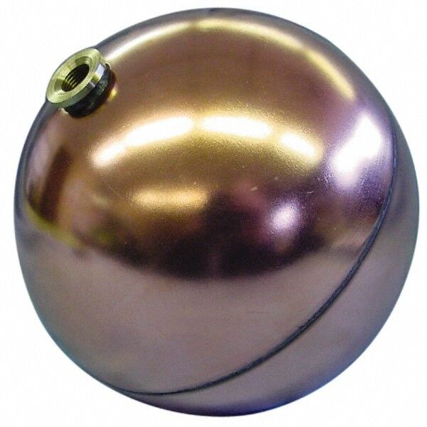 Made in USA 6 Inch Diameter, Spherical, Hex Spud Connection, Metal Float 3/8-...