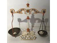 Vintage & Unusual Wooden Balance Weighing Scales