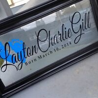 Custom Family Name Frames - order early for the Holidays