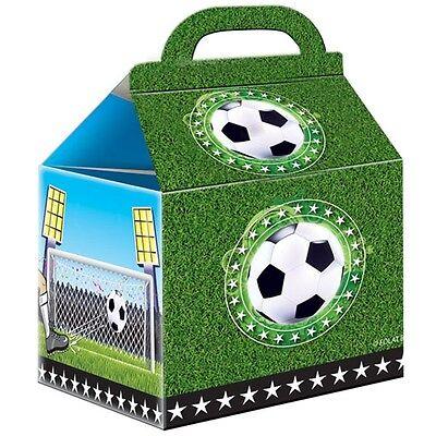 Fussball Party-Falttaschen, für Süßes und Geschenke, 14cm hoch, 9x9cm,
