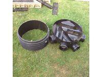 Inspection chamber riser cover & drain