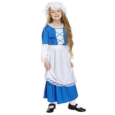 Tudor Girl's Fancy Dress Costume Party Dress Decoration Fits Age 7-9 years (Ebay Fancy Dress Kostüme)