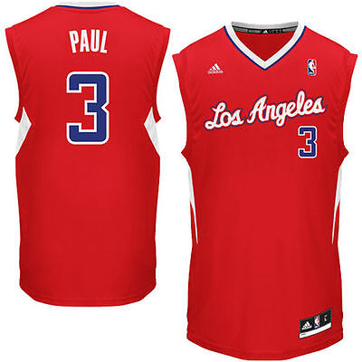 Adidas Mens Los Angeles Clippers Chris Paul Red Replica Road Jersey ()
