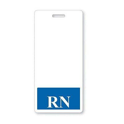 Rn Registered Nurse Vertical Hospital Id Badge Buddy With Blue Border