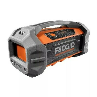 RIDGID 18V Hybrid Jobsite Radio with Bluetooth Wireless Technology (Tool Only)