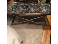 Silver modern coffee table (large)