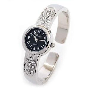 silver black size s bangle