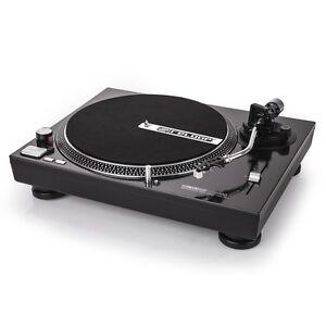 Reloop RP-2000M Professional Direct Drive DJ Turntable Single Black Metallic