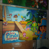 Dora's Pirate Adventure Wood Plaque Mounted Laminated Poster