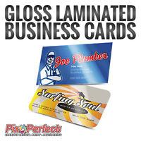 ★Thick Gloss Laminated Business Card Printing Ottawa + ✂ $5 OFF