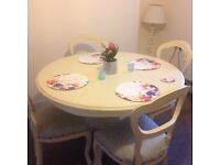 Stylish shabby chic dining table and chairs