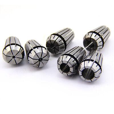 6pcs Er20 Spring Collet Set For Cnc Workholding Engraving Milling Lathe Tool