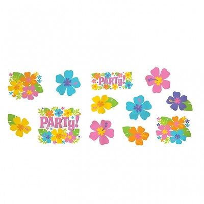 Value Pack Cut Outs (Value Pack of 12 Hawaiian Luau Party Themed Cut-Outs Decorations - New & Sealed)