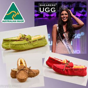 HAND-MADE-Australia-Shearers-UGG-Moccasin-Slipper-Premium-Sheepskin-Boots