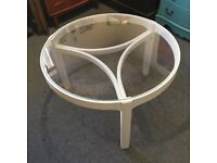 Round Nathan Furniture Coffee Table in White