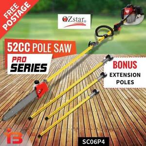 Oz Star 52cc Brush Cutter Pruner Long Reach Pole Chainsaw, Sydney Fairfield Fairfield Area Preview