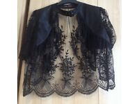 Black lace jacket/cardi