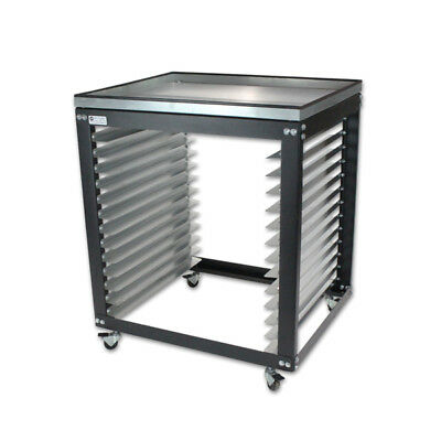 Sm Cart W Metal Top - Screen Printing Shop Rack Cart Storage - Made In Usa