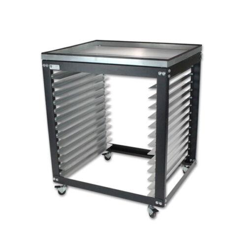 SM Cart w/ Metal Top - Screen Printing Shop Rack / Cart / Storage  - MADE IN USA