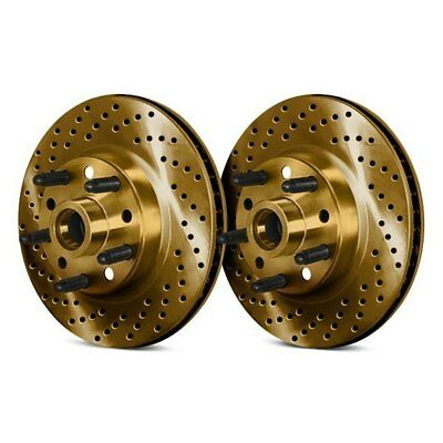 For Dodge Ramcharger 85-93 Brake Rotors Drilled & Slotted 1-Piece Front Brake