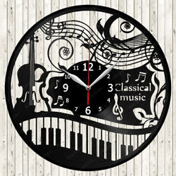 Classical Music Vinyl Record Wall Clock Decor Handmade 1481
